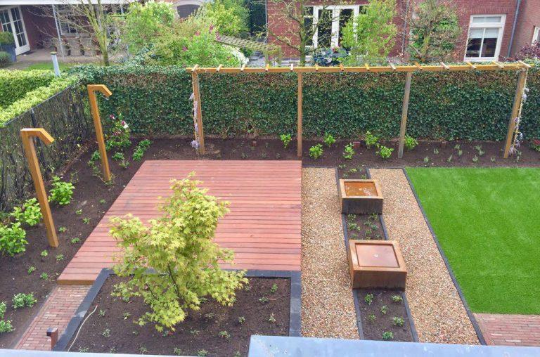 Vlonder en kunstgras tuin